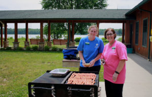Volunteers Grilling Hot Dogs in Geauga Park