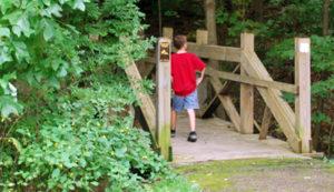 Boy Walking on Trail at Bessie Benner Metzenbaum Park